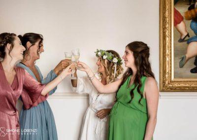 bridal party al Matrimonio country chic a Bergamo, Lombardia