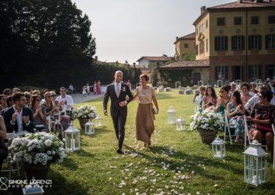 arrivo dello sposo per la cerimonia civile del Matrimonio country chic in Villa Pesenti Agliardi, Bergamo