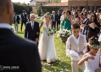 ingresso della sposa al Matrimonio country chic in Villa Pesenti Agliardi, Bergamo
