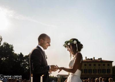 scambio delle fedi al Matrimonio country chic in Villa Pesenti Agliardi, Bergamo