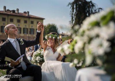 sposi esultato al Matrimonio country chic in Villa Pesenti Agliardi, Bergamo