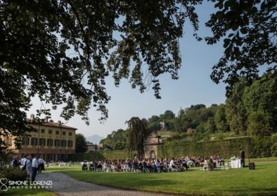 panoramica laterale Matrimonio country chic in Villa Pesenti Agliardi, Bergamo