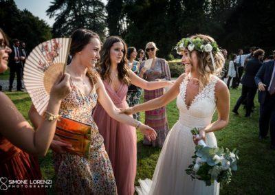 amiche della sposa al Matrimonio country chic in Villa Pesenti Agliardi, Bergamo