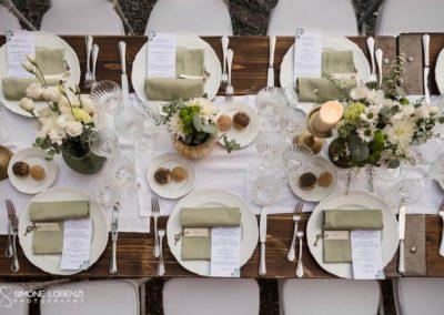allestimento country chic del tavolo imperiale al Matrimonio civile in Villa Pesenti Agliardi, Bergamo