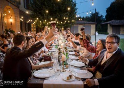 brindisi al Matrimonio country chic in Villa Pesenti Agliardi, Bergamo