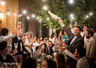 matrimonio festoso serale in Villa Pesenti Agliardi, Bergamo