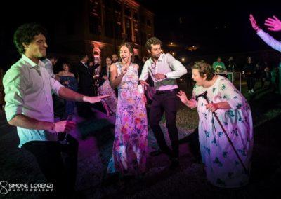 ballerini buffi al Matrimonio civile in Villa Pesenti Agliardi, Bergamo